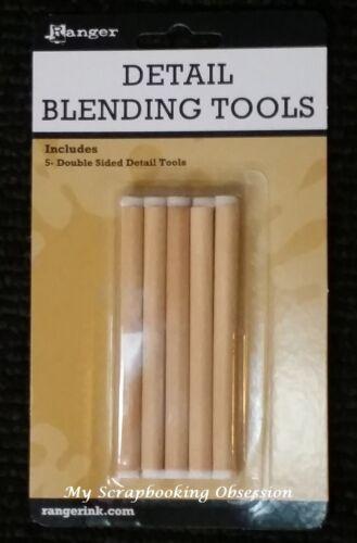 Ranger DETAIL BLENDING TOOL 5pk Double Sided - Ink/Paint Drawing Mix Media/Art