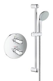 Grohe Grohtherm 1000 new concealed shower set chrome