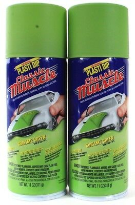 2 Plasti Dip Classic Muscle Sublime Green 1970-71 Endless Possibilities 11 Oz