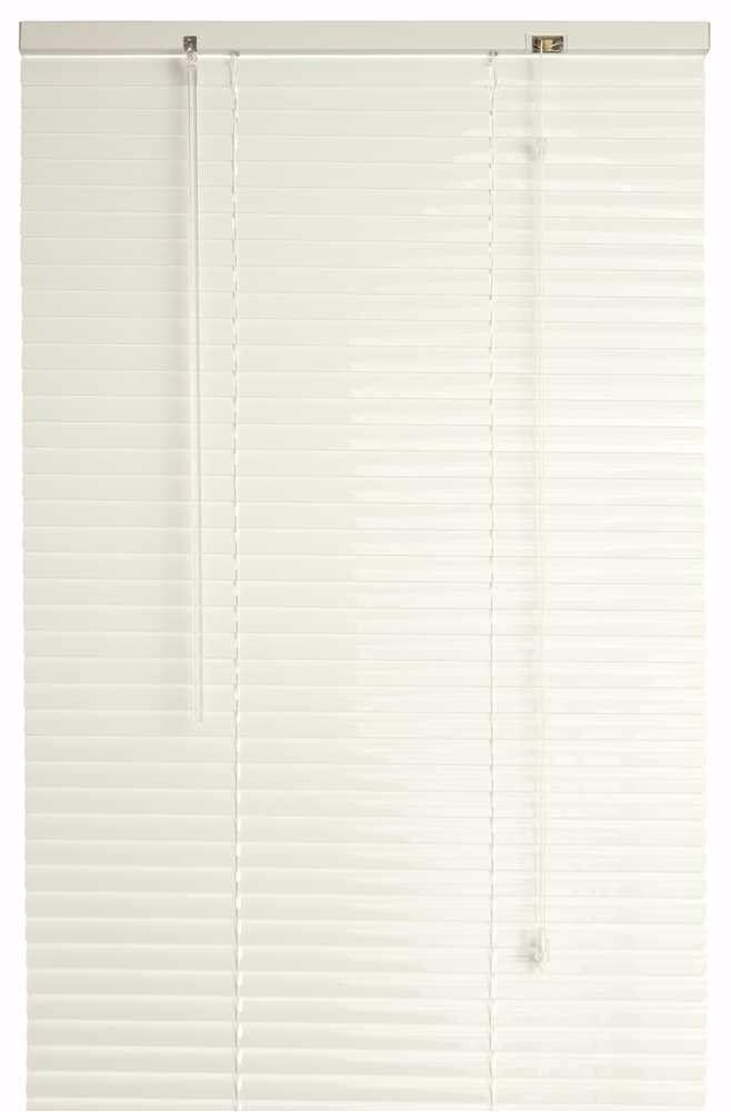 Designer's Touch 833601 1-Inch Vinyl Mini Blinds, Alabaster,
