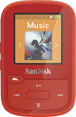 SanDisk - Clip Sport Plus 16GB* MP3 Player - Red