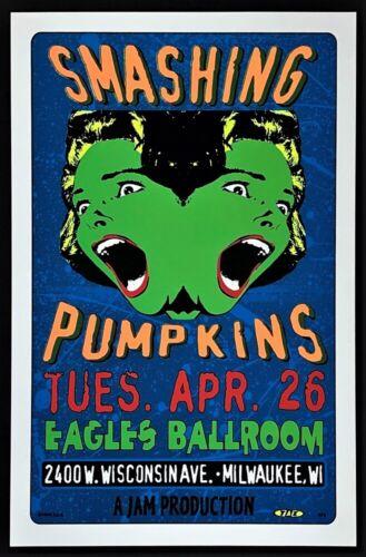 Smashing Pumpkins POSTER Silkscreen TAZ Eagles Ballroom Milwaukee Concert 1994