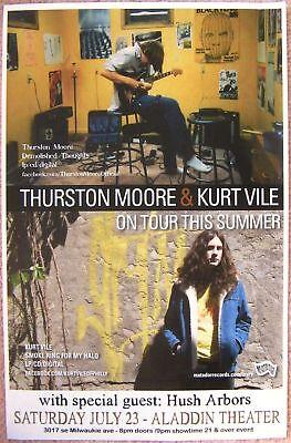 THURSTON MOORE & KURT VILE 2011 Gig POSTER Portland Oregon Concert