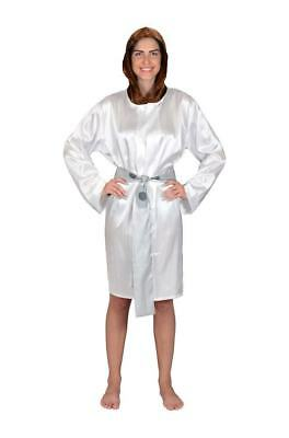 NEW with Tags White Star Wars Princess Leia Hooded Sexy Satin Robe / Bathrobe