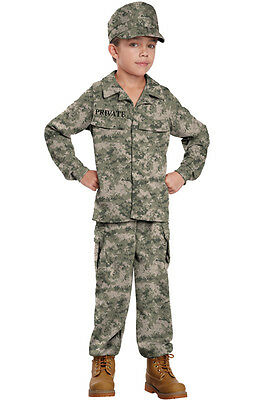 Army Marines Military Soldier Uniform Child Costume - Military Kids Costumes