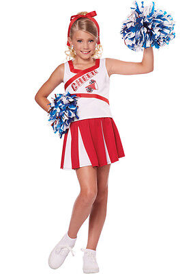 High School Cheerleader Cheer Girls Child Costume - Cheerleader Kids Costume