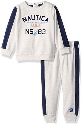 Nautica Infant Boys Oatmeal 2pc Jog Pant Set Size 3/6M 6/9M 12M 18M 24M $50