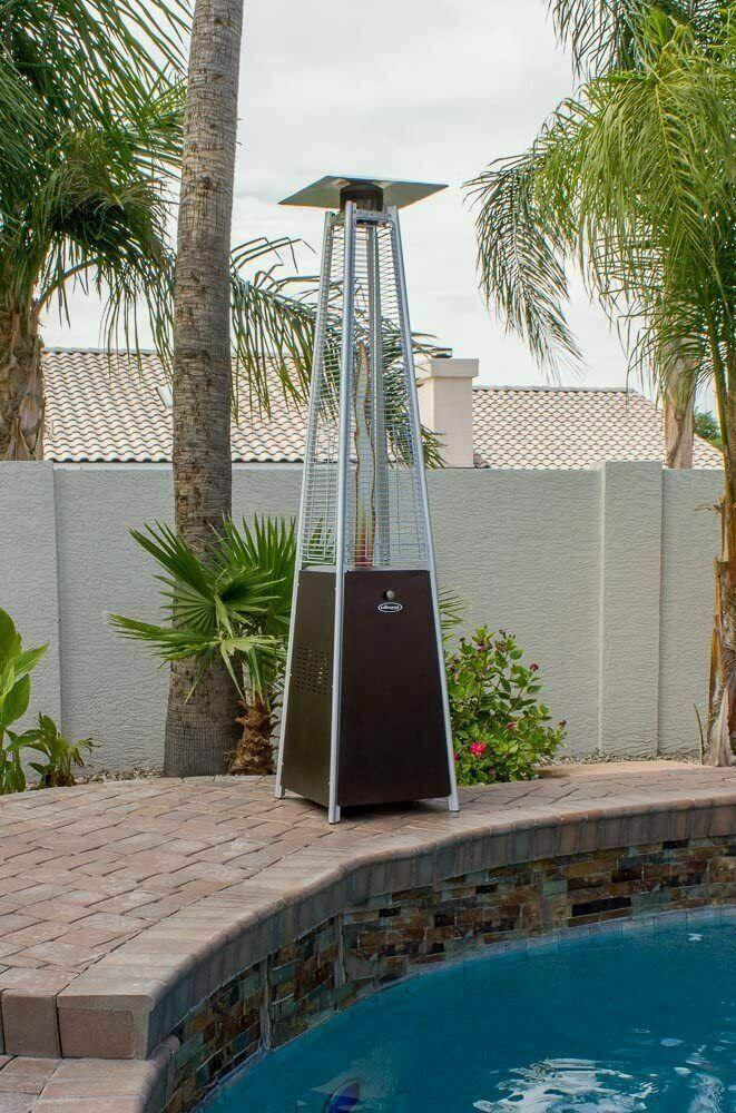 Hiland Bronze Glass Tube Patio Heater