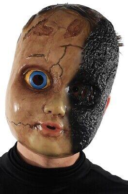 Herren Damen Dead Burnt Puppe Baby Halloween Kostüm Kleid Outfit Maske (Baby-Halloween-Kostüm)