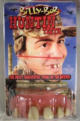 Billy Bob Halloween Costume (Billy Bob Fake Hunting Teeth with Tobacco Stains - Novelty Costume)