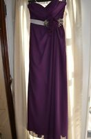 Enzoani Purple Evening Gown Brand New