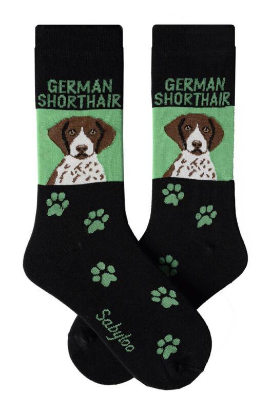 German Shorthaired Pointer Crew Socks Unisex Green