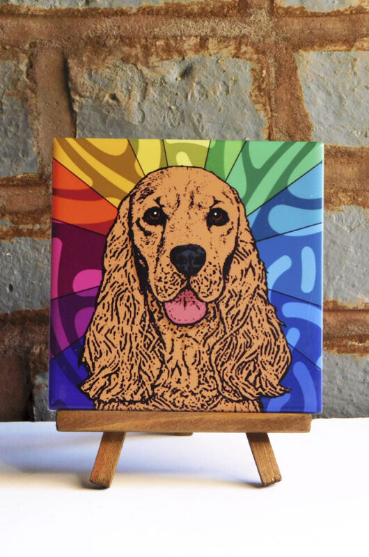 Cocker Spaniel Ceramic Coaster Tile