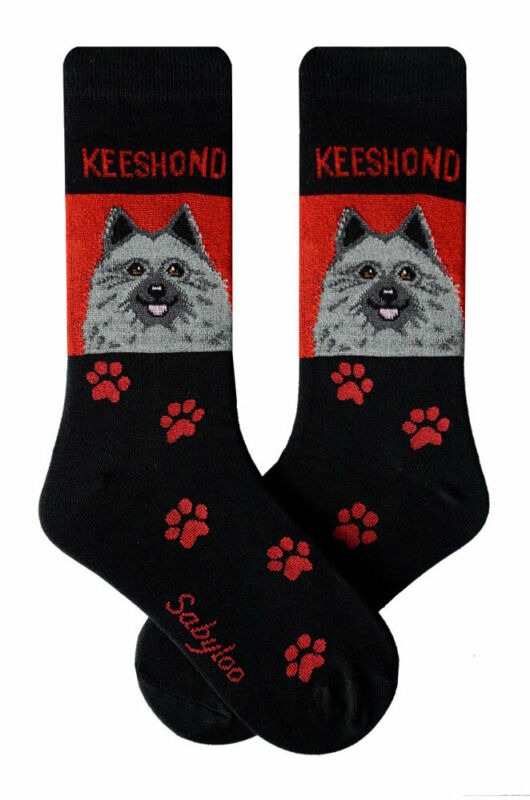 Keeshond Crew Socks Unisex Red
