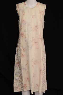Calvin Klein Collection rose multi 6 S 42 floral raw edge A-line dress NEW $2695