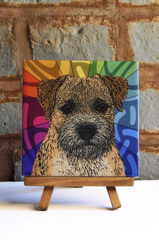 Border Terrier Ceramic Coaster Tile