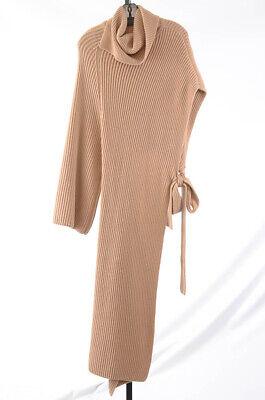 Rosetta Getty beige S 4 6 chunky rib wrap tunic turtleneck sweater top NEW $2490