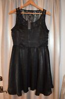 Black Dress with Lace Size M