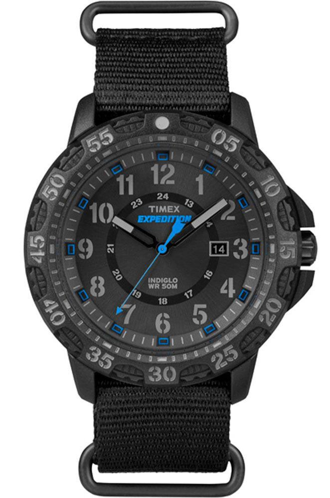 Timex® Men's Expedition Gallatin Black Nylon Slip-Thru S