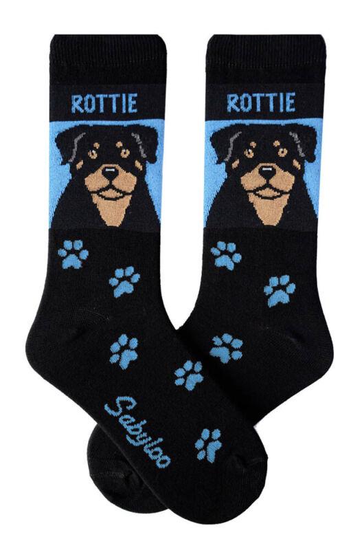 Rottweiler Crew Socks Unisex Blue