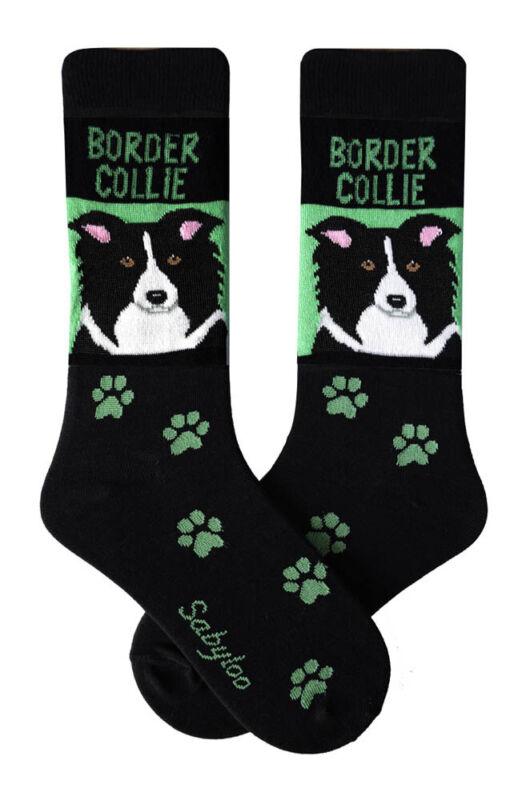 Border Collie Crew Socks Unisex