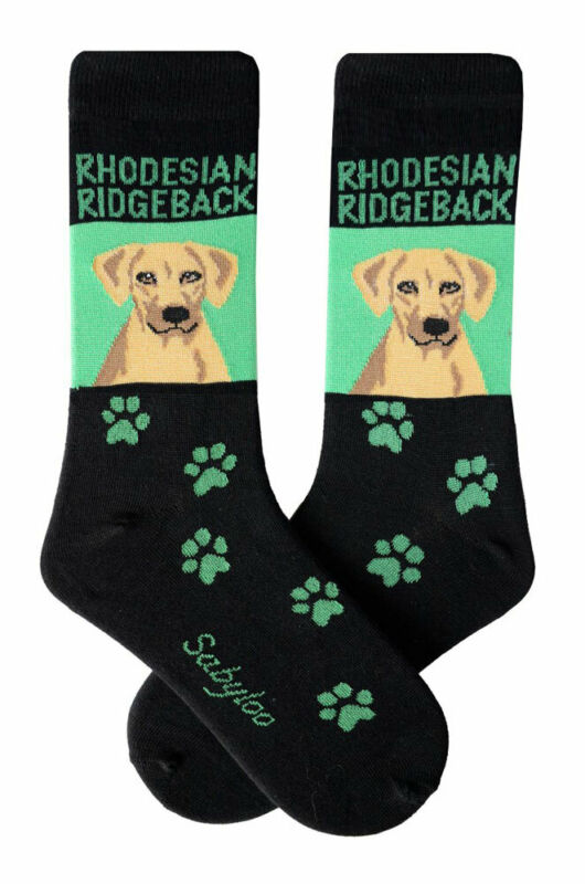 Rhodesian Ridgeback Crew Socks Unisex Green