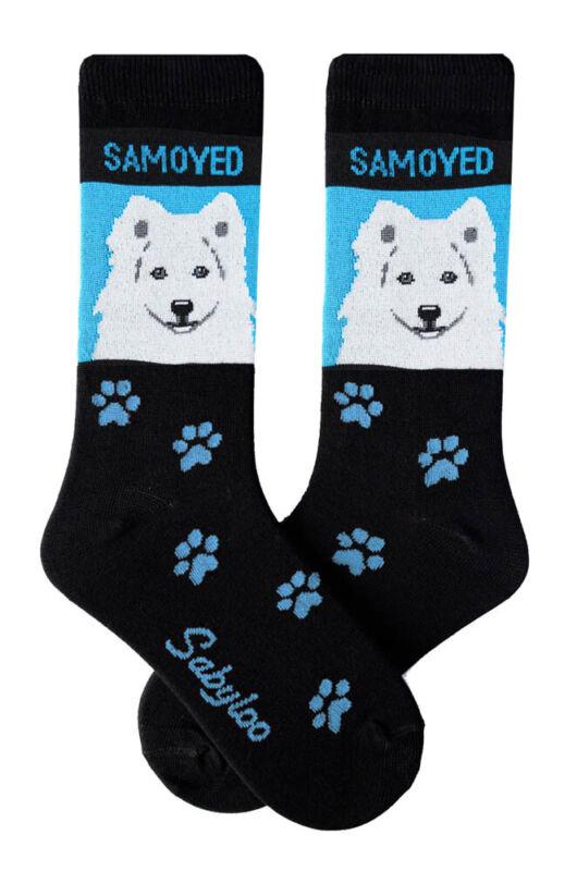 Samoyed Socks Lightweight Cotton Crew Stretch