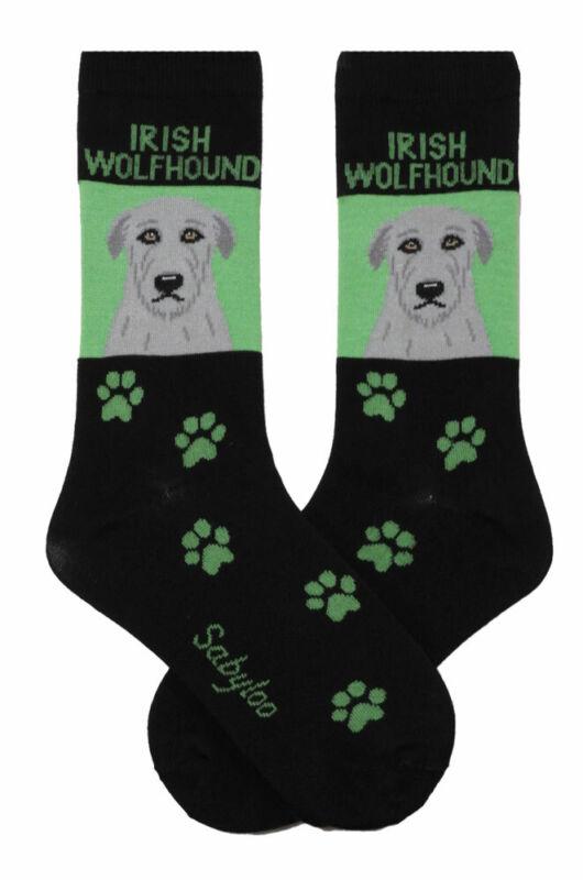 Irish Wolfhound Crew Socks Unisex