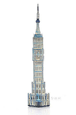 "Empire State Building Still Piggy Bank Architectural Metal Model 26"" Saving Box"