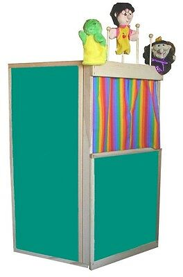 BEKA KIDS CLUBHOUSE PLAYHOUSE THEATER CHALKBOARD SURFACES With PUPPET RACK NEW