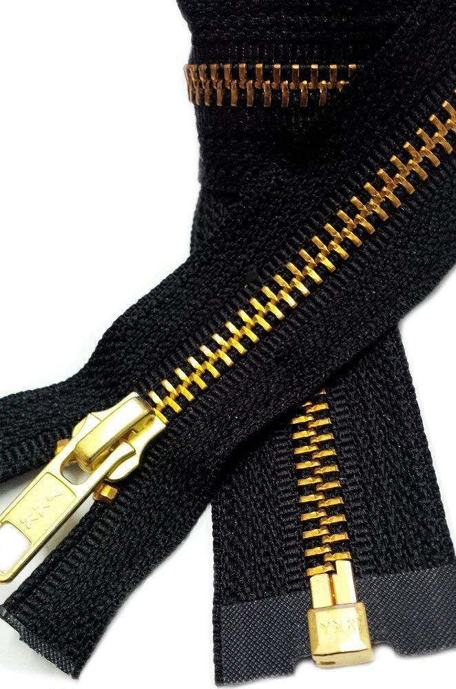 Medium Weight Jacket Zipper YKK #5 Brass Separating  Made in