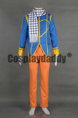 Fairy Tail Natsu Dragneel Fire Dragon Slayer Magic Outfit Cosplay Costume F006](Fire Fairy Costumes)
