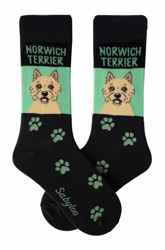 Norwich Terrier Crew Socks Unisex