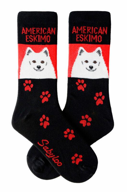 American Eskimo Crew Socks Unisex Red