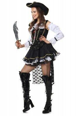 Deluxe Damen-Kostüm PIRATIN mit SCHLEPPE Pirat Fluch der Karibik neu - Piraten Der Karibik Kostüm Damen