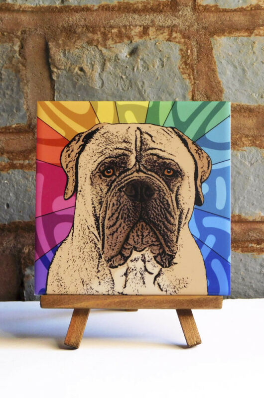Mastiff Ceramic Coaster Tile
