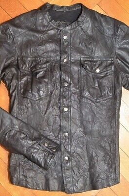 AllSaints Popper Leather Jacket Small