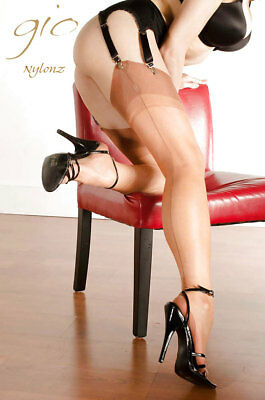 Gio Fully Fashioned Stockings - RICH TAN - Imperfects NYLONZ