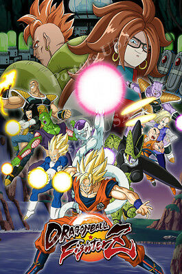 Rgc Huge Poster   Dragon Ball Fighterz Ps4 Xbox One Glossy Finish   Oth706