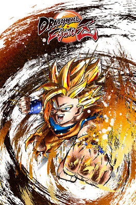 Rgc Huge Poster   Dragon Ball Fighterz Ps4 Xbox One Glossy Finish   Oth707