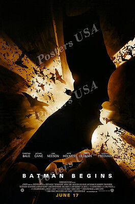 Batman Begins New Movie Poster - Posters USA - DC Batman Begins Movie Poster Glossy Finish - FIL206
