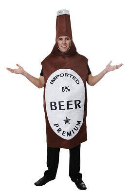 Costume di carnevale a forma di BOTTIGLIA DI BIRRA - Vestito da Adulto