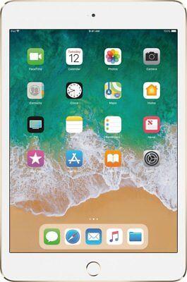 New Apple iPad mini 4 Wi-Fi 128GB - Gold MK9Q2LL/A Fast Shipping!!