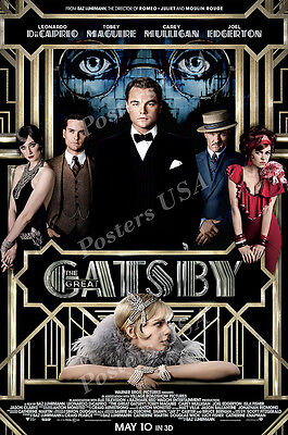 eat Gatsby DiCarprio Movie Poster Glossy Finish - MOV357 (Great Gatsby Dekorationen)