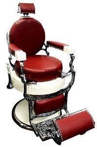 Rare Antique Koken Presidential Barber Chair, Restored