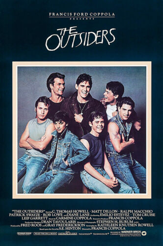The Outsiders Movie Poster, The Outsiders Movie Print Poster, Home Decor