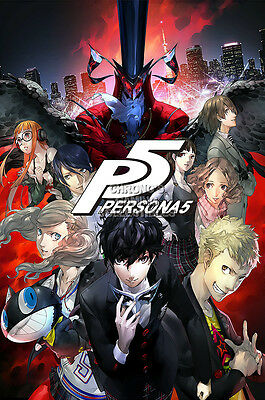 RGC Huge Poster - Shin Megami Tensei Persona V 5 PS4 PS3 PS2 PSP - EXT763 (Persona 3 Poster)