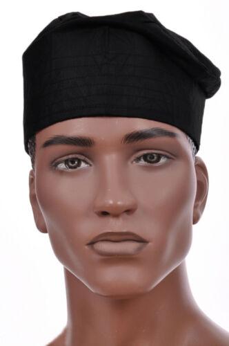Black African Cotton Kufi Hat DPH550