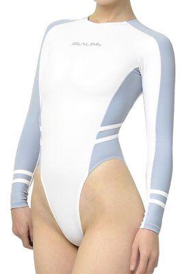 Realise Long-Sleeved Swimsuit N-015-P1 Sac/White Small size Swimwear Japan NEW