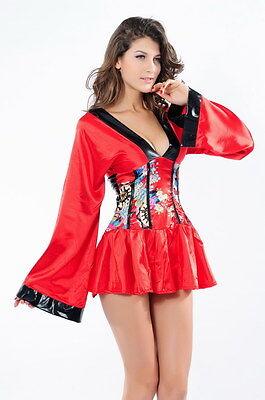 Sexy Women's Shanghai Delight Geisha Kimono Fancy Dress Costume